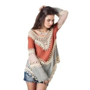 Women Hollow Lace Crochet Bikini Cover Up Swimwear